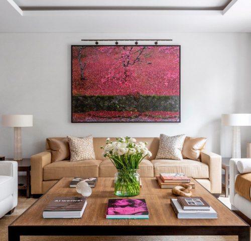 TM Lighting Customised Slim Light Pro Picture Light | Private Residence, London, by Rients Bruinsma | Artwork: Ori Gersht | Photography: James McDonald