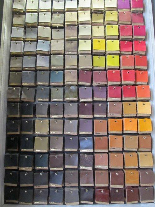 Alma - leather samples