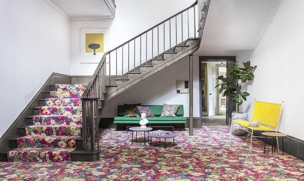 choosing carpet - floral