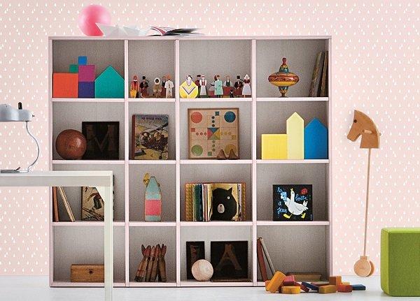 Shelving, children's furniture by Battistella
