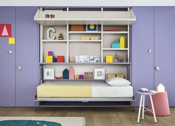 Desk to bed, children's furniture by Battistella