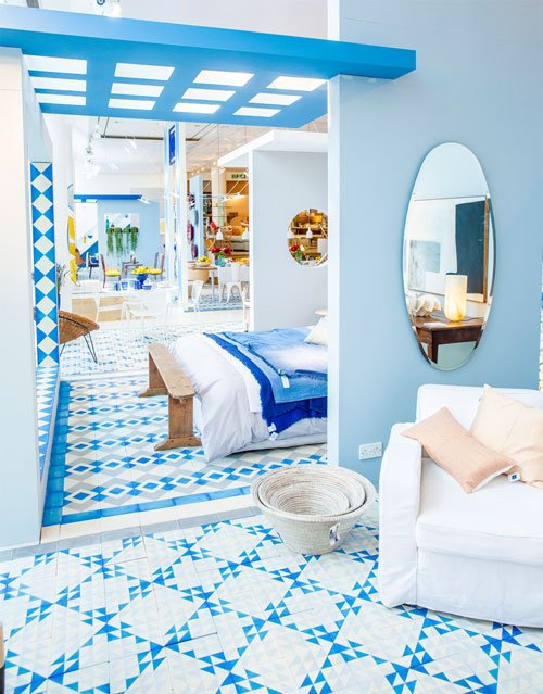 Azure tiles by Bert & May at The Conran Shop