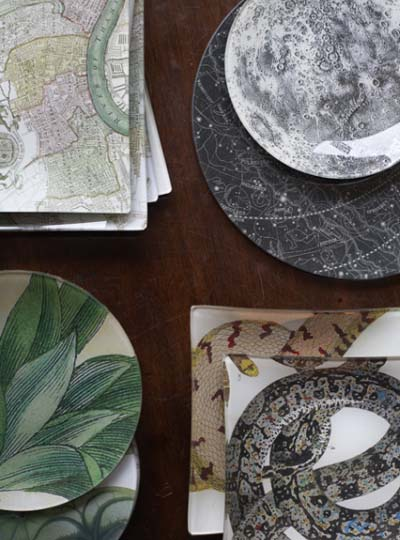 Bridie Hall decoupage plates & trays
