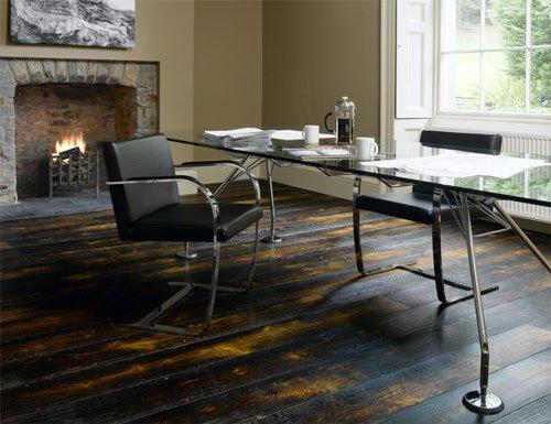 Brushed & Burned Floor by Broadleaf