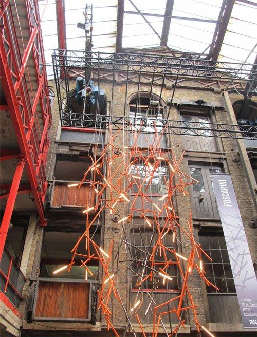 Foscarini installation at Clerkenwell Design Week