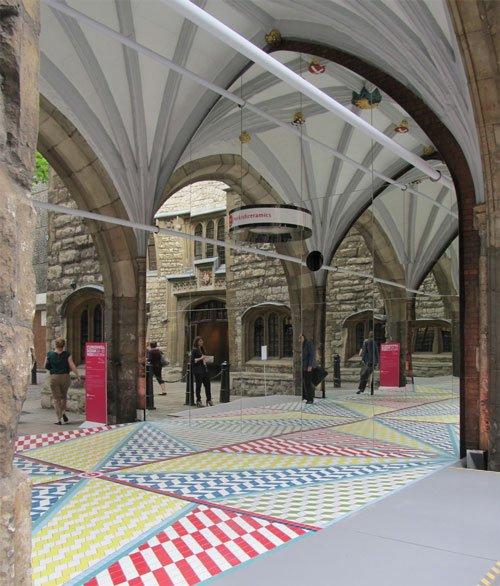 St John's Gate Tile Installation at Clerkenwell Design Week