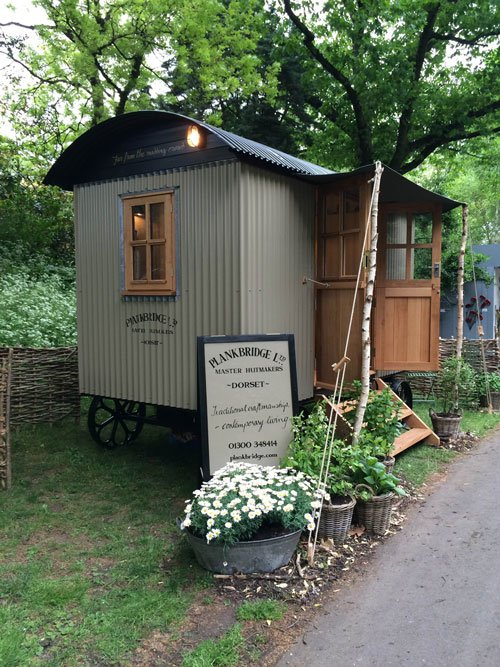 Shepherd's hut by Planksbridge