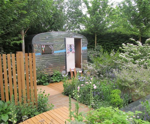 'A Celebration of Caravanning' garden at Chelsea Flower Show