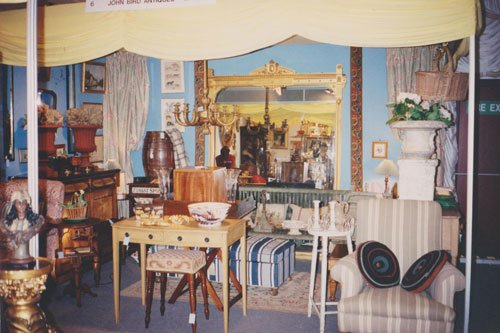 Decorative Fair in 1993, John Bird's stand