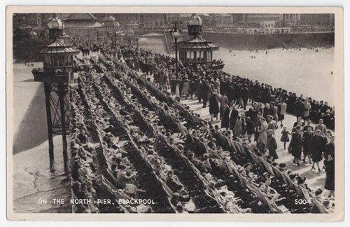 vintage postcard Blackpool