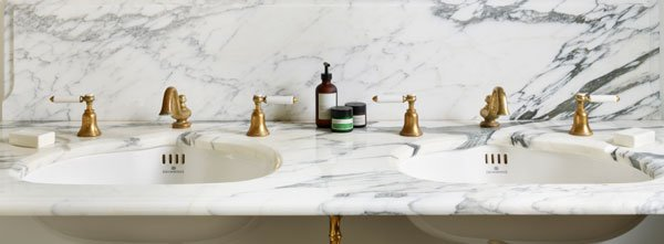 Drummonds marble double basin