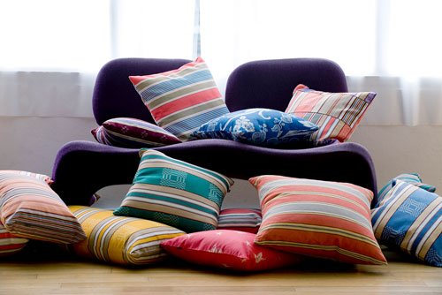 Striped cushions from El Meu Coixi