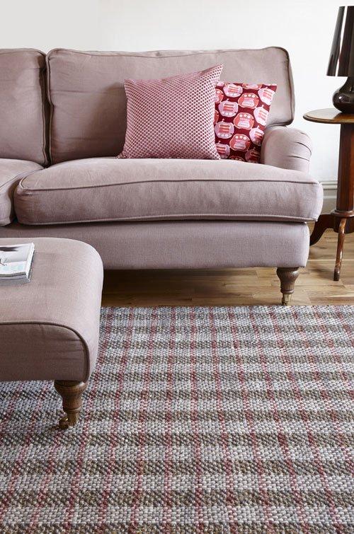 Arran wool & plant fibre rug from Flock