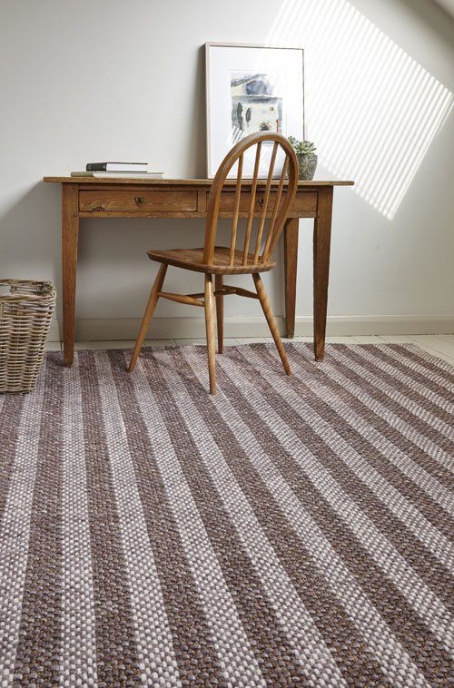 Mika wool & plant fibre rug from Flock