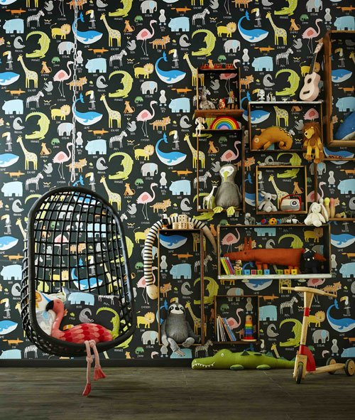 children's wallpaper by Scion