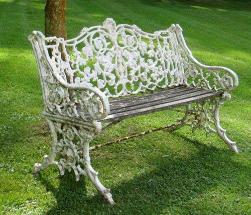 Antique bench from Lichen Garden Antiques
