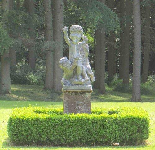 Lead Putti from Lichen Garden Antiques