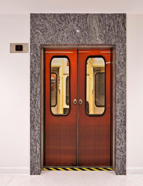 Door lift sticker by Wallpapered