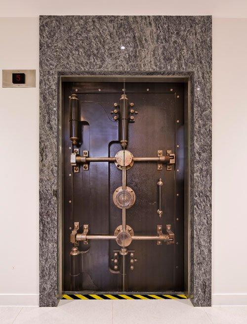 Safe door lift sticker by Wallpapered