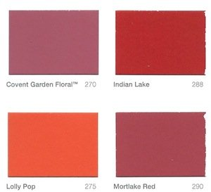 Paint colours from Mylands