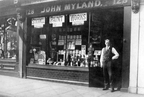 Mylands paint shop in 1942
