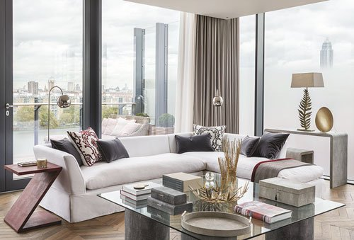 OKA Battersea Power Station apartment, living room