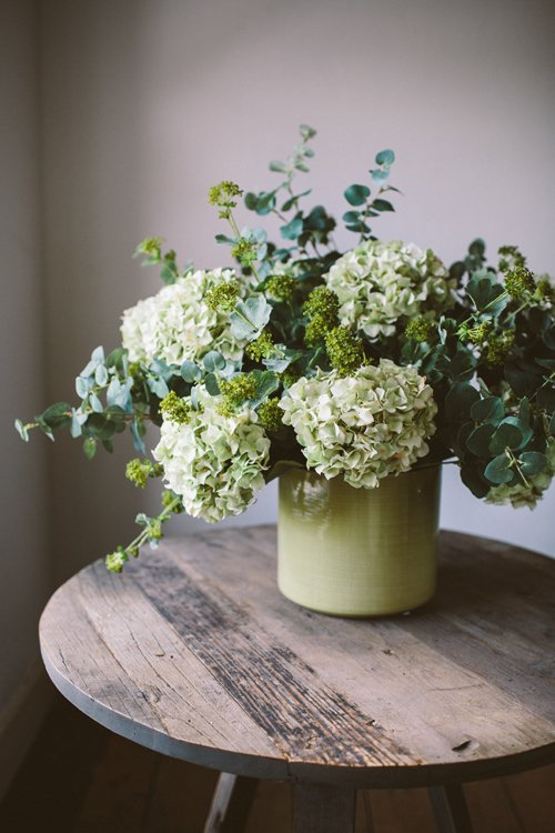 Faux flowers from The Olive Tree - Hydrangea Mix