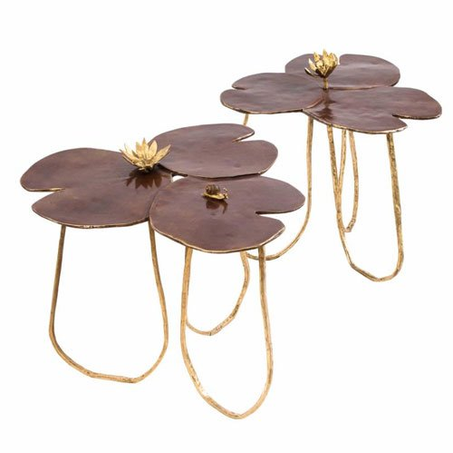 Water lilies tables by Paula Swinnen from Guinevere