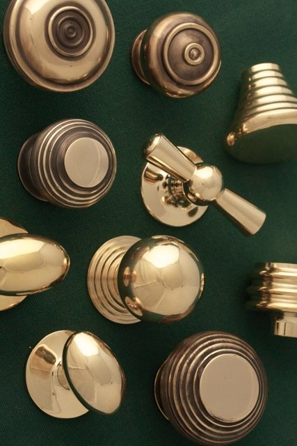 Brass door knobs from Priors