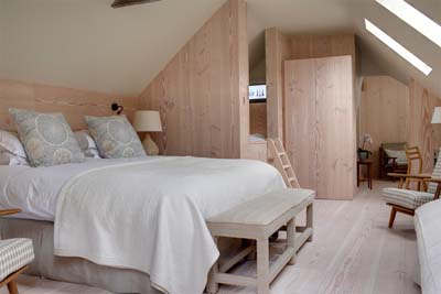 Hayloft bedroom at The George in Rye