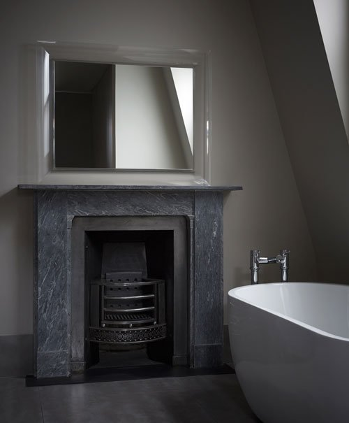 Georgian marble fireplace  from Renaissance London