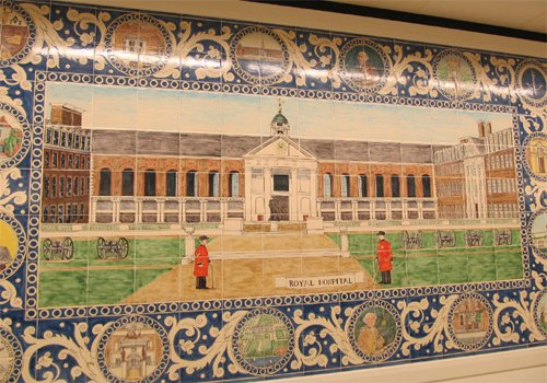 Royal Hospital tile panel by Reptile