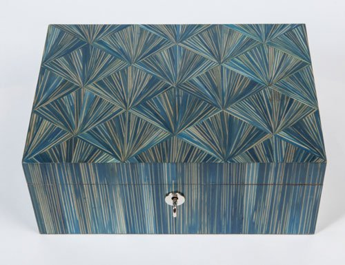 Simon Orrell marquetry jewellery box