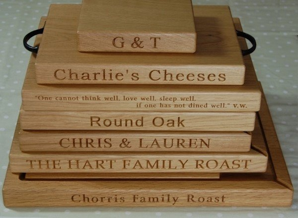 original and personalised gifts - The Oak Chopping Board Company