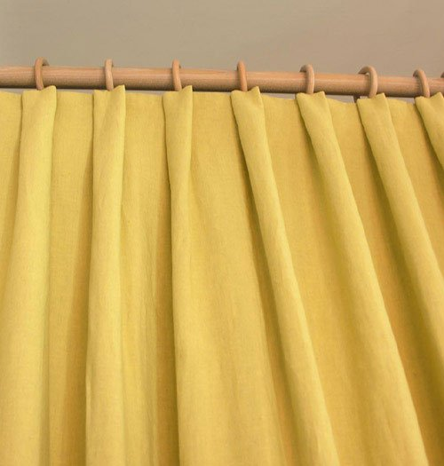 soft flat pleat curtain by Tinsmiths