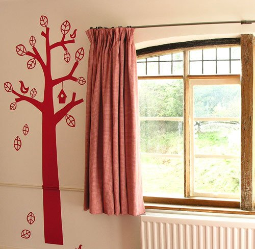 taped heading curtain by Tinsmiths