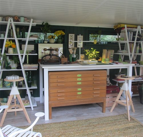 Vicki Conran's bookbinder workshop
