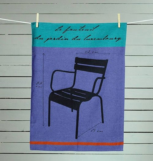 Chaise du Luxembourg tea towel from Ville et Campagne