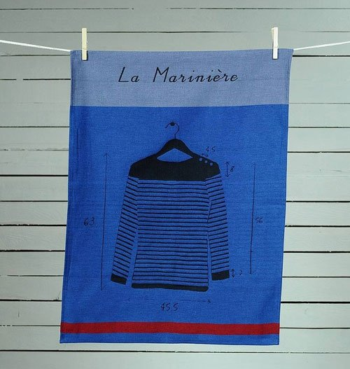 Mariniere tea towel from Ville et Campagne