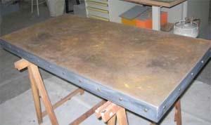 Zinc table from Dezinc