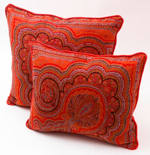 Paisley cushions from Guinevere