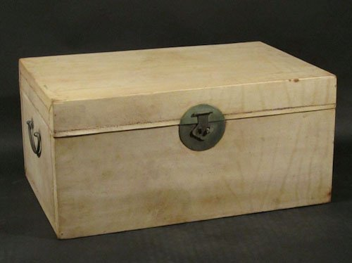 Leather trunk from Indigo Asian Antiques & Interiors