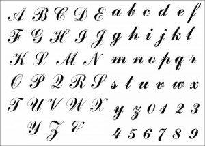 Stencil alphabet