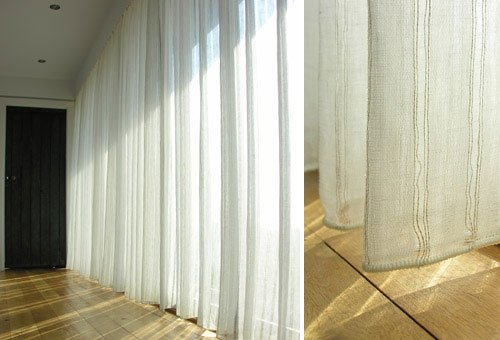 sheer curtain from Tinsmiths