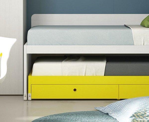Trundle bed with storage, children's furniture by Battistella